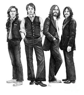 Beatles Drawing - Beatles Drawing by Murphy Elliott