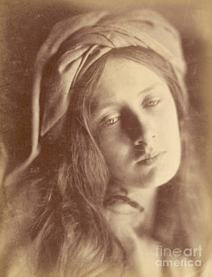 Wistful Photograph - Beatrice by Julia Margaret Cameron