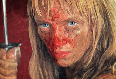 Pulp Painting - Beatrix Kiddo by Taylan Soyturk