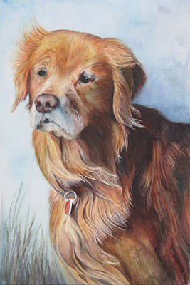 Portrait Painting - Beau by Mary Wykes