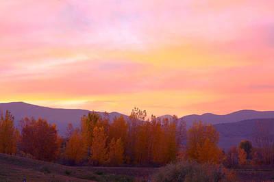 Autumn Photograph - Beautiful Autumn Sunset by James BO  Insogna