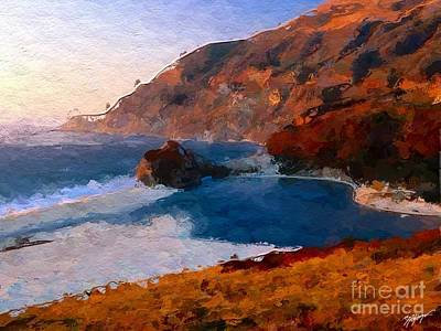 Seascape Digital Art - Beautiful Beach At Sunset by Anthony Fishburne