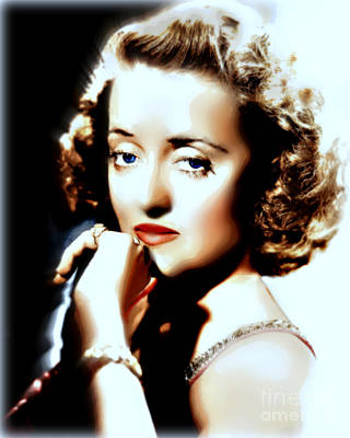 Classic Film Star Mixed Media - Beautiful Bette by Wbk