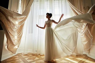 Beautiful Bride Near The Window Original by Jan Pavlovski