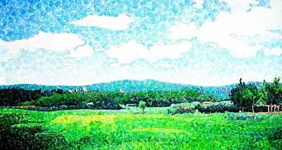 Italian Landscape Mixed Media - Beautiful Day In Tuscany  by Jason Charles Allen