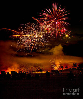 Beautiful Fireworks Print by Robert Bales
