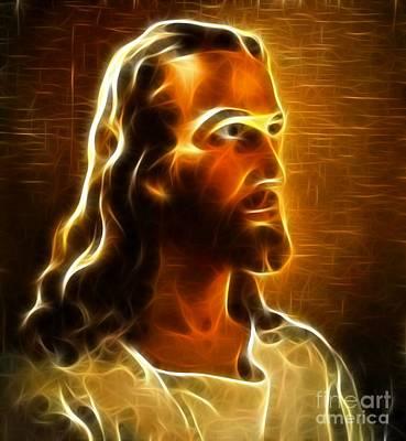 Jesus The King Mixed Media - Beautiful Jesus Portrait by Pamela Johnson