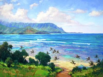 Painting - Beautiful Kauai Hanalei Bay by Jenifer Prince