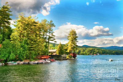 Waterscape Painting - Beautiful Lake George New York by Anne Kitzman