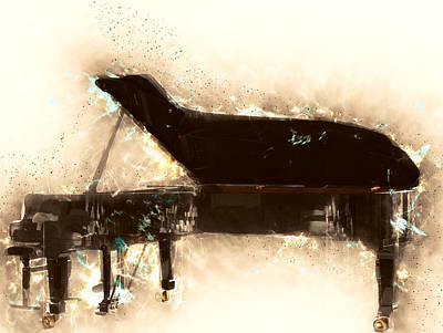 New Jersey Musician Painting - Beautiful Love By Bill Evans by Vel Verrept