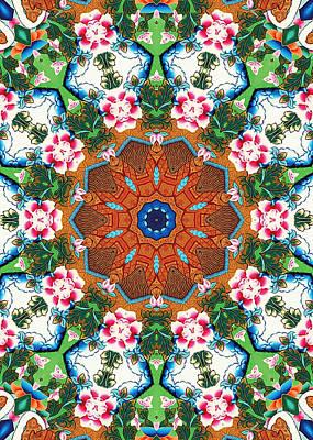 Organic Painting - Beautiful Mandala 22 by Lanjee Chee