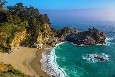 Of Big Sur Beach Photograph - Beautiful Mcway Falls Cove by Garry Gay