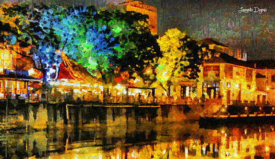 Scenic Painting - Beautiful Night - Pa by Leonardo Digenio