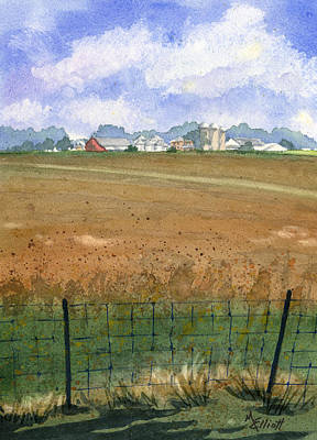 Silos Painting - Beautiful Ohio by Marsha Elliott