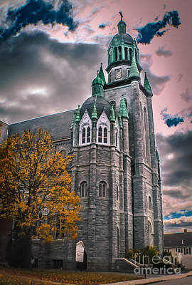 Autumn Photograph - Beautiful Old Church by Claudia M Photography