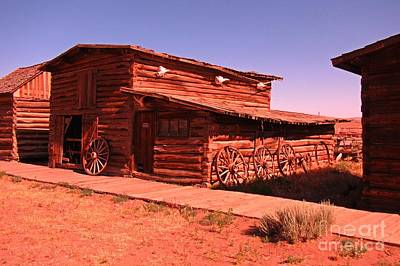 Old Wooden Wagon Painting - Beautiful Old Western Stable by John Malone
