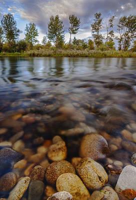 Beautiful Pebbles In Boise River Idaho Print by Vishwanath Bhat
