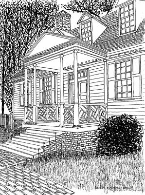Beautiful Restored Home, Colonial District, City Of Williamsburg Virginia Print by Dawn Boyer