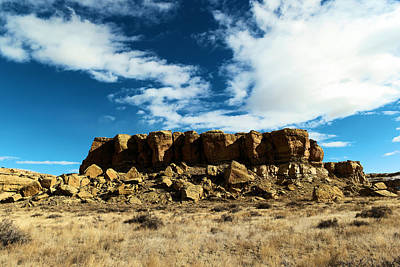 Chaco Canyon Photograph - Beautiful Rock Formation In New Mexico by Jeff Swan