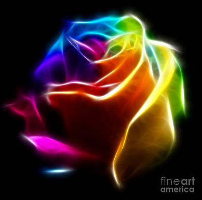 Beautiful Rose Of Colors No2 Print by Pamela Johnson