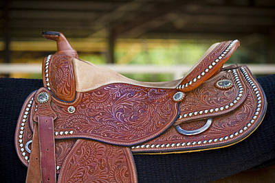 Horse Photograph - Beautiful Saddle by Marilyn Hunt