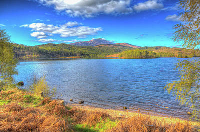Invergarry Photograph - Beautiful Scottish Loch Garry Scotland Uk Lake West Of Invergarry On The A87 Hdr by Michael Charles