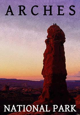 Monolith Digital Art - Beautiful Sunset by David Lee Thompson