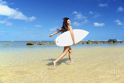 Beautiful Surfer Girl Print by Kicka Witte