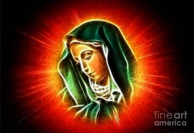 Passover Mixed Media - Beautiful Virgin Mary Portrait by Pamela Johnson