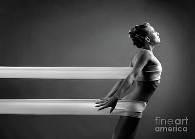 Art Nude Erotic Bondage Photograph - Beautiful Young Woman by Oleksiy Maksymenko