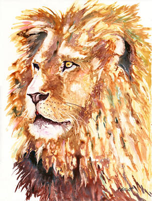 Jungle Cat Painting - Beauty And Strength by Marsha Elliott