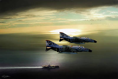 Us Navy Digital Art - Beauty And The Bones by Peter Chilelli