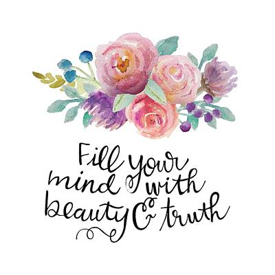 Beauty And Truth Print by Nancy Ingersoll