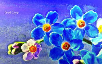 Orchid Digital Art - Beauty - Da by Leonardo Digenio
