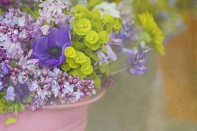Beauty In A Bucket Print by Rebecca Cozart