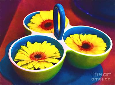 Beauty In A Cup Print by James Shinn