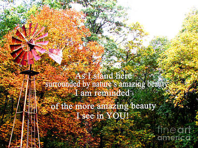 Beauty In You Print by Gardening Perfection