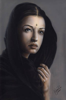 Ajna Painting - Beauty Of India by Wayne Pruse