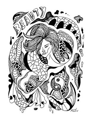Drawing - Beauty Of Lines by Kenal Louis
