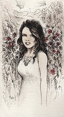 Singer Drawing - Beauty Of The Rocks by Rachel Christine Nowicki