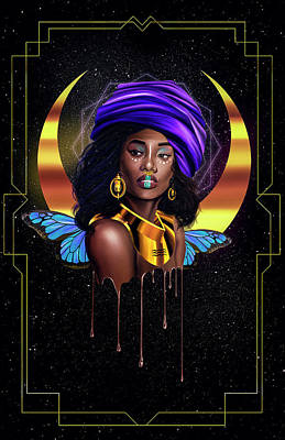 Painting - Beauty Queen Tia by Kenal Louis