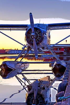 Float Plane Photograph - Beaver On Glass- Abstract by Tim Grams