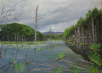 Painting - Beaver Pond In Londonderry Vt by Ken Ahlering