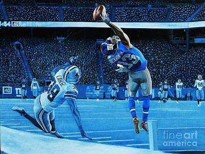 Nfl Sports Painting - Beckham Legendary by Anthony Young