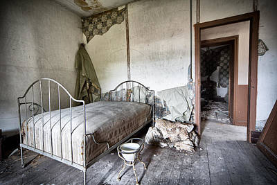 Bed Time - Urban Exploration And Decay Print by Dirk Ercken