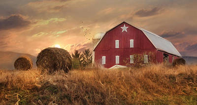 Rural Scenes Mixed Media - Bedford County Sunset by Lori Deiter