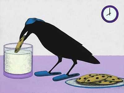 Bedtime Snack Print by Kamilla White