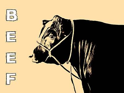 Cow Mixed Media - Beef Poster by Dan Sproul