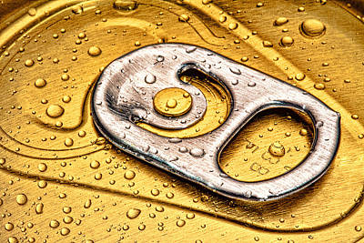 Beer Photograph - Beer Can Pull Tab by Tom Mc Nemar