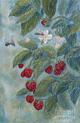Bees Berries And Blooms Original by Phyllis Howard